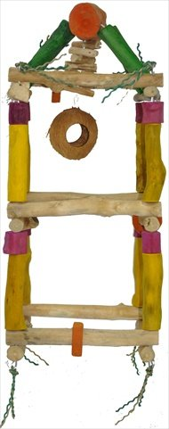 A&E Cage Company Medium Hanging Double Tower ? 11.8? x 27.5? Java Wood by A&E Cage Company
