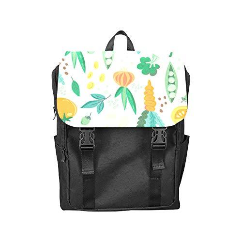 Fashion Flip Cover Notebook Fruit and Vegetable Harvest Sweet Print Laptop Backpack Travel Men Women Business Computer Backpack Oxford Fabric Vintage School Shoulder Bag
