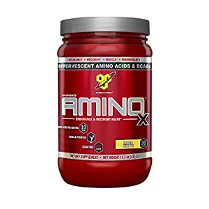 BSN Amino X Post Workout Muscle Recovery & Endurance Powder with 10 Grams of Amino Acids Per Serving, Flavor: Tropical Pineapple, 30 Servings (Packaging May Vary)