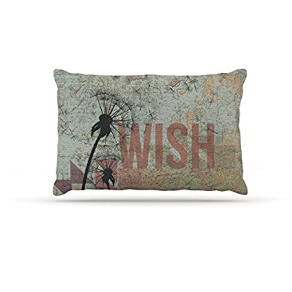 100/% Algod/ón Standard SoulBedroom Make a Wish 2 Fundas de Almohada Extra 20 x 30 50 x 75 cm