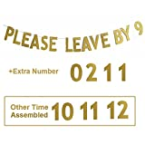Glody Please Leave By 9 or 10,11,12 Holiday Party Hanging Letter Signs