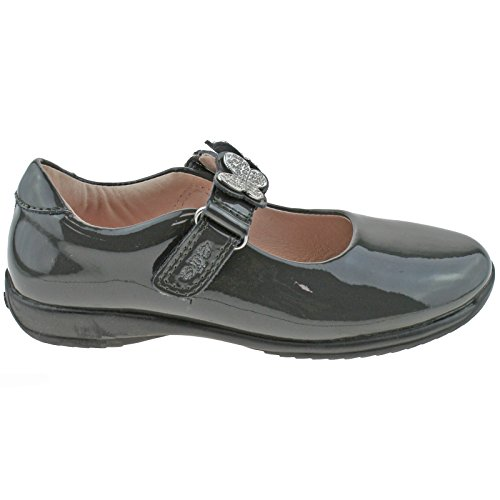 F 5 Kelly Love Lelli 31 LK8309 UK Patent Fitting Shoes School Grey DR01 12 wgTZ8q