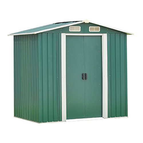 Nexttechnology Shed Garden Shed Small Outdoor Storage Shed (4×6 ft, Green)