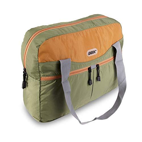 tote Bag, Duffel Bag For Travel, Multipurpose Daypack (Green/Orange) ()