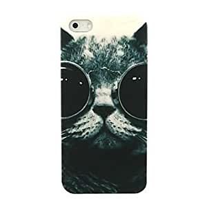 GJYLovly Cat Glasses Pattern Hard Case for iPhone 5/5S