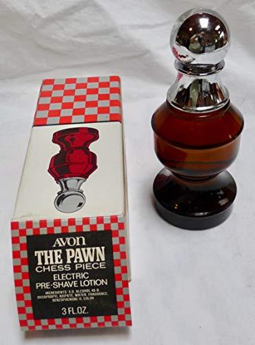 Avon The Pawn Chess Piece Avon Electric Pre-Shave Lotion 3 FL OZ 1970s -  Avon Chess