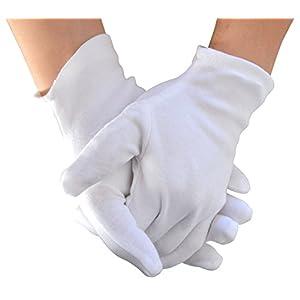 Meta-U Wholesale White Soft 100% Cotton Work/Lining Glove (5 pairs)
