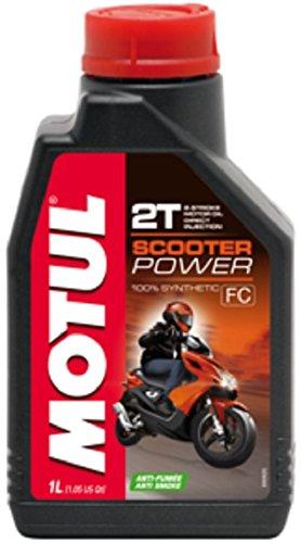 Aceite Mezcla Motul Scooter Power 2T 100% sintético Synthetic Ester 1 litro