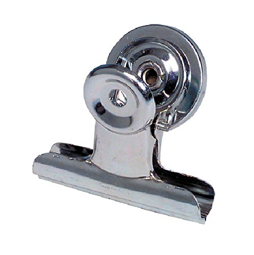 "School Smart Nickel Plated Steel Magnetic Clip, 1-1/4"" L (Pack of 24)"