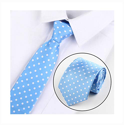 Blue Polka Dot Necktie - Big Boy Sky Blue Polka Dot Silk Cravat Tie Casual Neckwear Holiday Gifts for Men