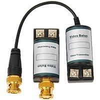 VideoSecu One Pair of Passive CCTV Video Balun Camera Network Transceiver Cat5 Connection 1EM