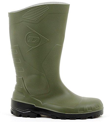 Dunlop Devon grün mit Stahlkappe Unisex-Erwachsene Langschaft Gummistiefel, S5 - 40 - H142611