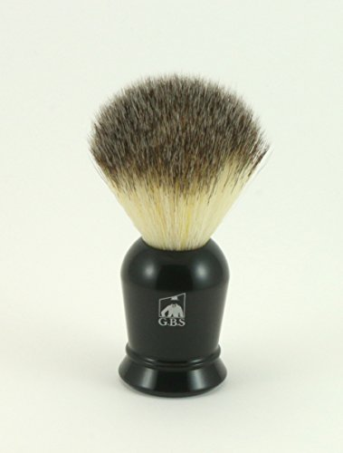 GBS Super Synthetic Black Handle Shaving Brush Comes with Free Black Stand