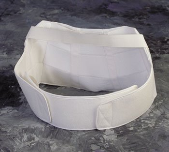 Back Support - Large maternity Belt Aids in relieving back pressure for the expectant mother.Adjusts in size to fit the abdomen as it grows. Back panel has pocket for a moldable insert. by King Products