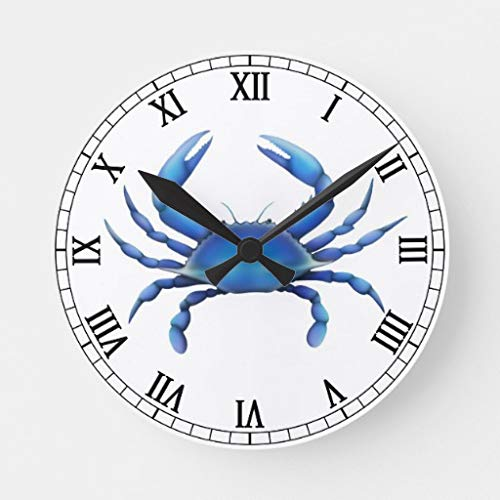 Amazon Com The Eastern Blue Crab Wall Clock Battery