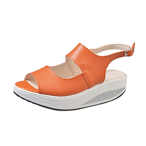 VEMOW Women Ladies Girls Fashion Sneakers Sports Running Hiking Thick Bottom Platform Shoes Home Sandals Thick-Bottomed Athletic Anti-Skid Double Buttoned Velveteen T-orange