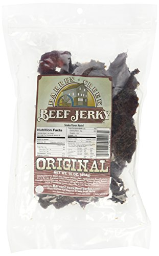 Barren Creek Beef Jerky (Original, 1 Pound - Lb Bag 1 Jerky