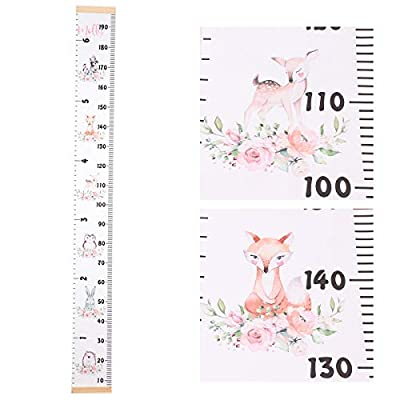 Baby Growth Chart Ruler Canvas Height Ruler Removable Wall Ruler Room Decoration for Boys and Girls 79
