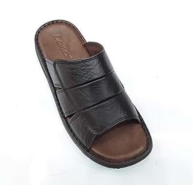 LEMEX Black Slides Slipper For Men
