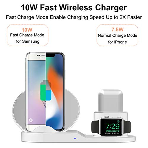 Wireless Charger Stand Station, Wonsidary Fast Charge Dock
