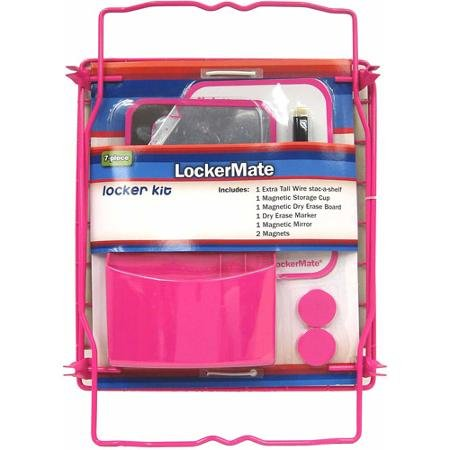 Lockermate 7 Piece Tall Wire Locker Kit (Pink)