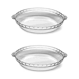 Pyrex 6001200 9-Inch Round Glass Pie Plate Twin Pack  sc 1 st  Amazon.com & Amazon.com: Pyrex 6001200 9-Inch Round Glass Pie Plate Twin Pack ...