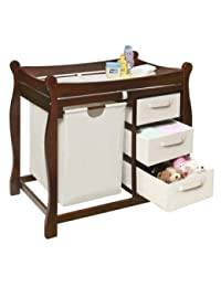 Badger Basket Changing Table with Hamper and Baskets - Cherry BOBEBE Online Baby Store From New York to Miami and Los Angeles