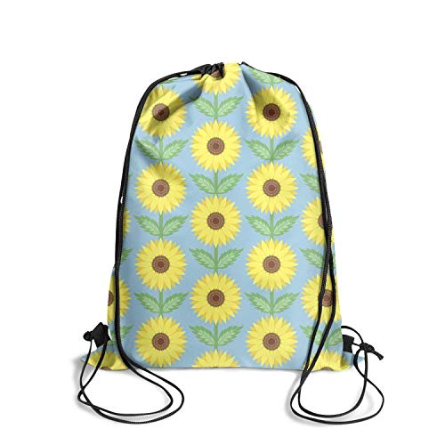 Unisex Drawstring Backpack Awesome Sunflower floral Pull String Sack Gym