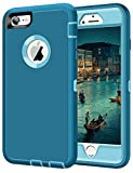 JAKPAK Case for iPhone 6 Plus Case iPhone 6S Plus Case Heavy Duty Shockproof Protective Scratch-Resistant Shell with Hard PC Bumper+Soft TPU Back Case for iPhone 6 Plus/iPhone 6S Plus 5.5″,Teal Blue