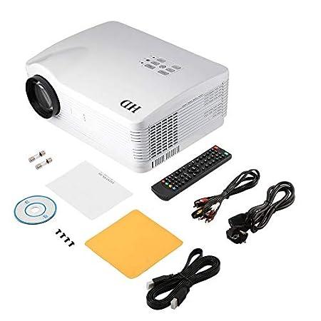H1 - Proyector HD (3000 lúmenes de HDMI, USB, SD, DTV, AV, VGA ...