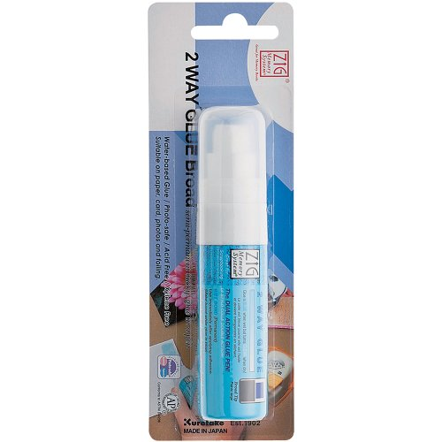 Pen Glue Zig (Zig MSB30M1P Memory System Two Way Glue Pen, Carded, Jumbo Tip)