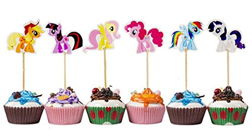 My Little Pony Cupcake Toppers Party Pack for 24 Cupcakes - My Little Pony Party Supplies