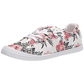 Roxy Women's Bayshore Slip on Shoe Sneaker, White Geo 20, 5 M US
