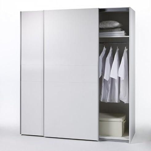 Kleiderschrank weiß schiebetüren  Schwebetürenschrank 170cm weiss Schiebetürenschrank Schiebetüren ...