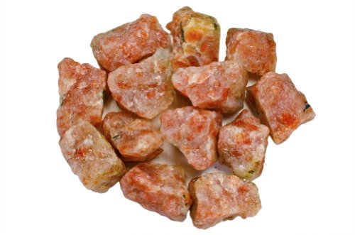 (Hypnotic Gems Materials: 1 lb Sunstone Stones from Asia - Rough Bulk Raw Natural Crystals for Cabbing, Tumbling, Lapidary, Polishing, Wire Wrapping, Wicca & Reiki Crystal Healing)