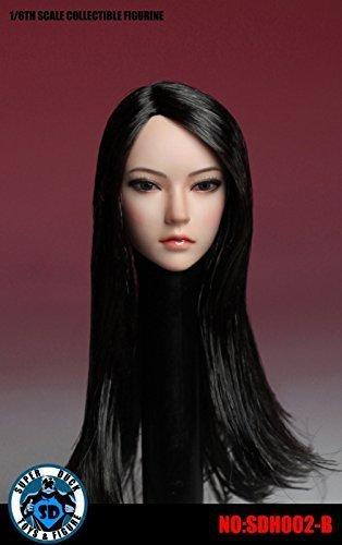 Super Duck 1/6 figures Accessories for Female flocked type head Asian Women PHICEN/Faisen/TBLeague corresponding -