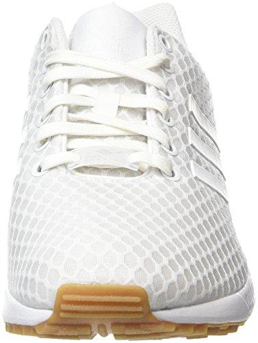 adidas ZX Flux, Zapatillas para Hombre, Blanco (Blanco (Ftwr White / Ftwr White / Gum)), 43 1/3 EU