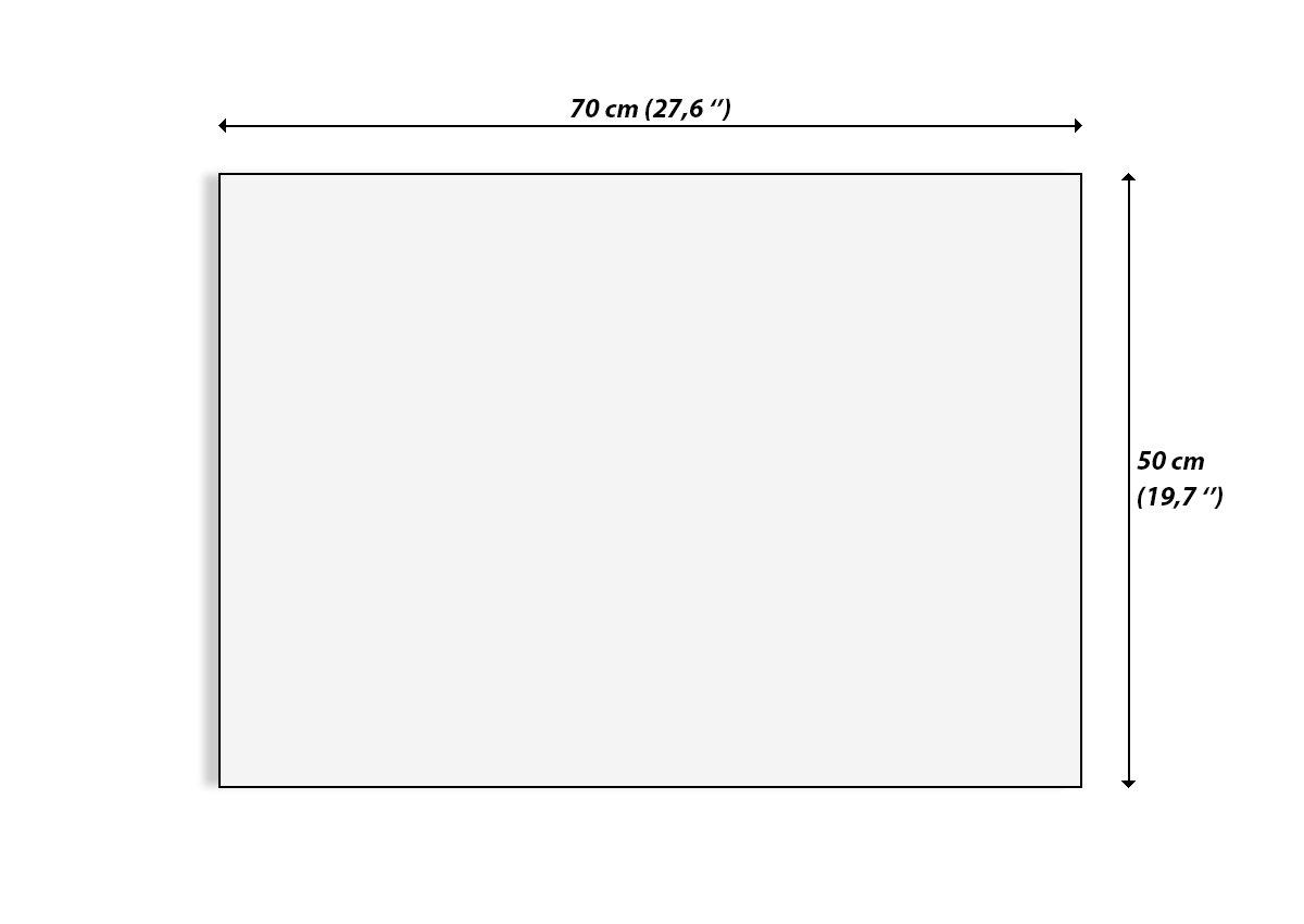 Arte Digitale Larghezza: 70cm Altezza: 50cm Elemento Unico Numero dellimmagine 2672 Moderno GAA70x50-2672 Quadro in Vetro Quadro su Vetro Pronto da Appendere