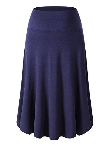Womens A-line Knit Skirt - 2