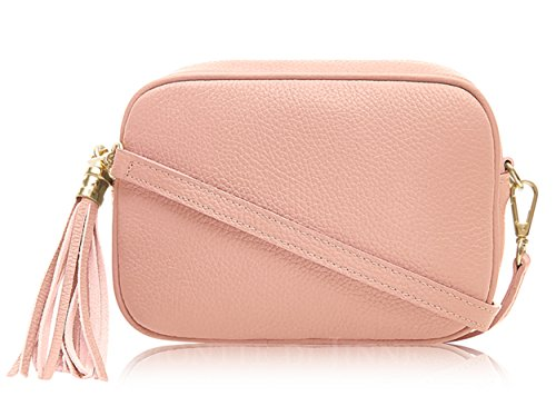 Di Jinne Body key Cross Soft Made Ring Leather in Italy Tassel Pink with Bag Leather Baby Montte Women's 100 Fd1q5Fw