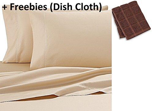Wamsutta 500-Thread-Count PimaCott QUEEN Sheet Set in HONEY + Freebies (Dish Cloth)