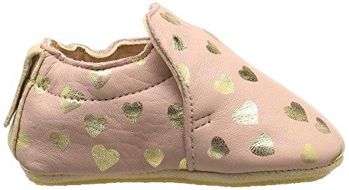 Easy Peasy Blublu Lovely - Zapatos de primeros pasos Bebé-Niños Rosa - Rose (531 Guimauve/Or)