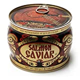 Red Caviar Salmon Russian Traditional Style Podarochnaya 500 g; 17.7 Oz Can