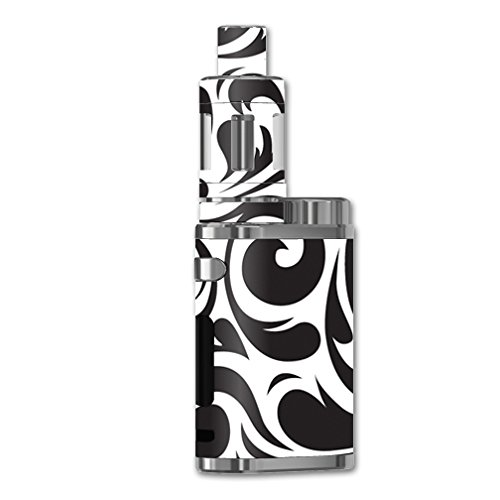 MightySkins Skin Compatible with eleaf iStick Pico 75W TC – Swirly Black   Protective, Durable, and Unique Vinyl Decal wrap Cover   Easy to Apply, Remove, and Change Styles   Made in The USA