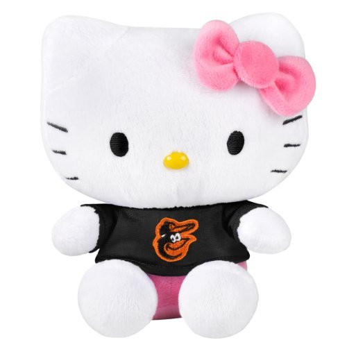 MLB Baltimore Orioles 8 Shirtable Hello Kitty Plush