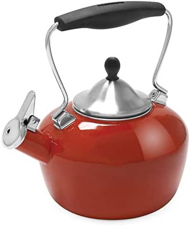 Chantal 37-CAT CB Catherine Teakettle, 1.8 quart, Cinnabar
