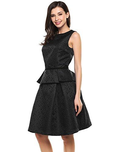 Angvns Sleeveless Peplum Pocket Outfit