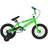Dave Mirra Boys 8048-30T 14-Inch Valens/Mirraco Bike, Neo Green/Black/Blue