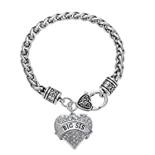 Lobster Claw Bracelet - Nana Mom Daughter Godmother Sister Big Middle Little Baby Sis Heart Charm