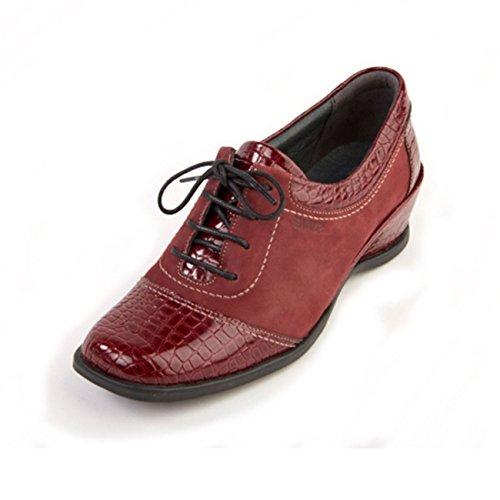 Wine Piel Zapatos de Croc Otra Suave para mujer de cordones qfSngR